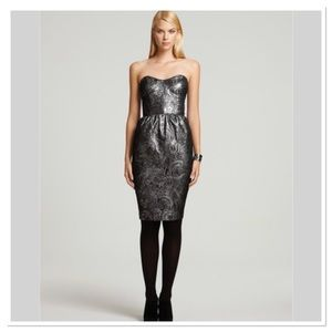 French Connection Silver Little Shilling Dress 8